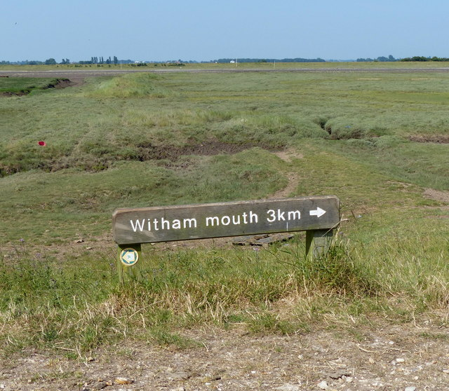Sign on the sea bank
