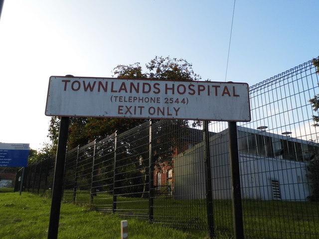 Sign for Townlands Hospital, Henley