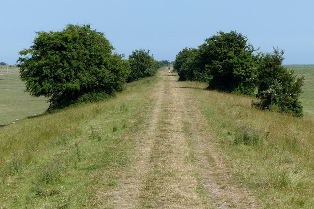 Path along the sea bank to the mouth of the Witham