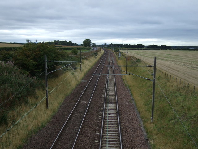 East Coast Main Line near Drem