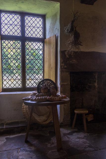 Window, Tretower Court, Wales
