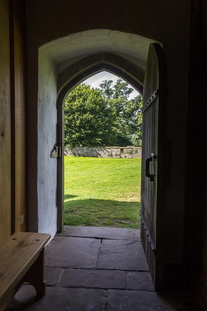 Doorway, Tretower Court, Wales