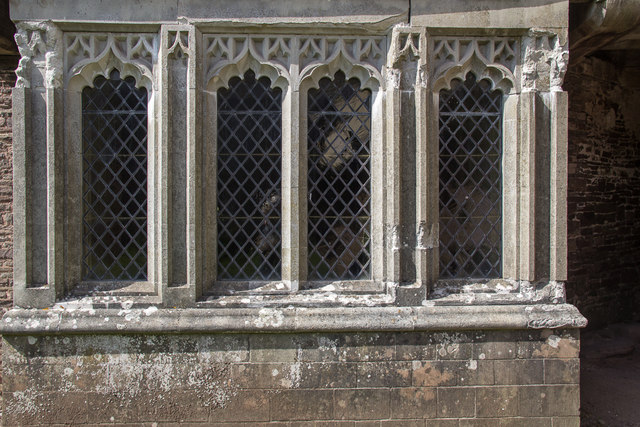 Restored Window, Tretower Court, Wales