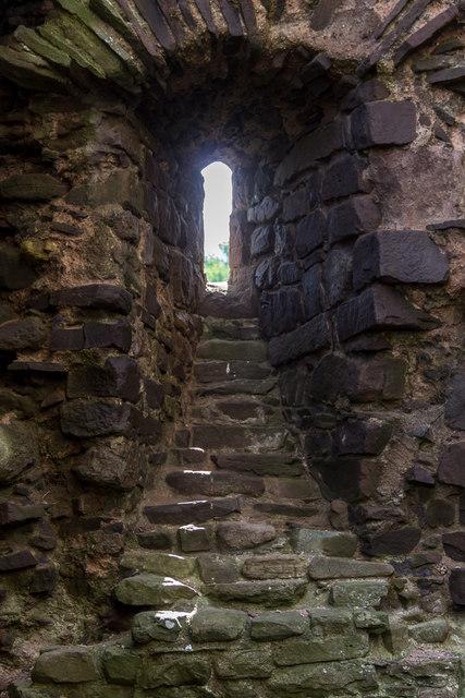 Slit Window, Tower of Tretower Castle, Wales