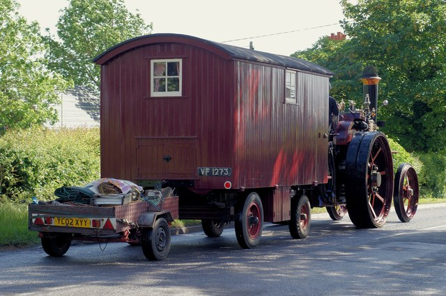 Burrell Traction Engine 'Crimson Lady', Lower Icknield Way, Marsworth