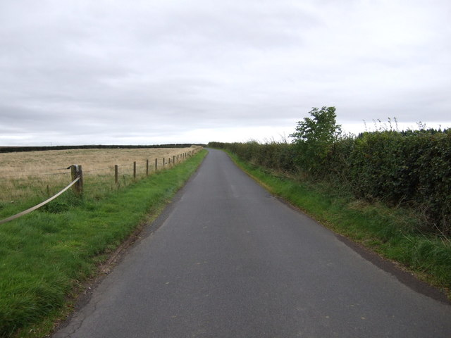 Minor road towards Athelstaneford