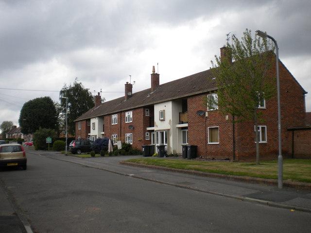 Low rise flats on Dennis Avenue, Lenton Abbey estate
