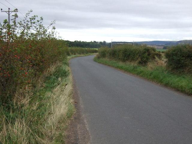 Minor road heading east