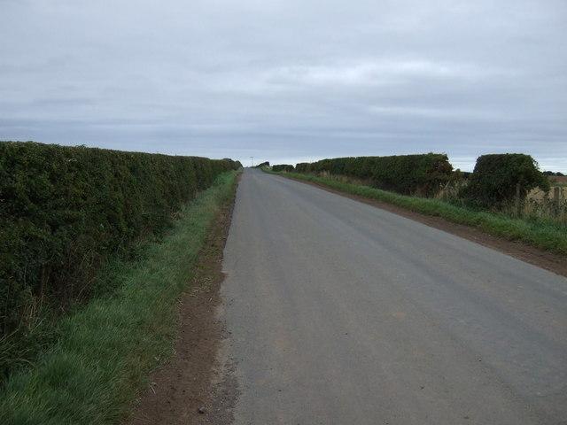 Minor road heading east near Brownrigg