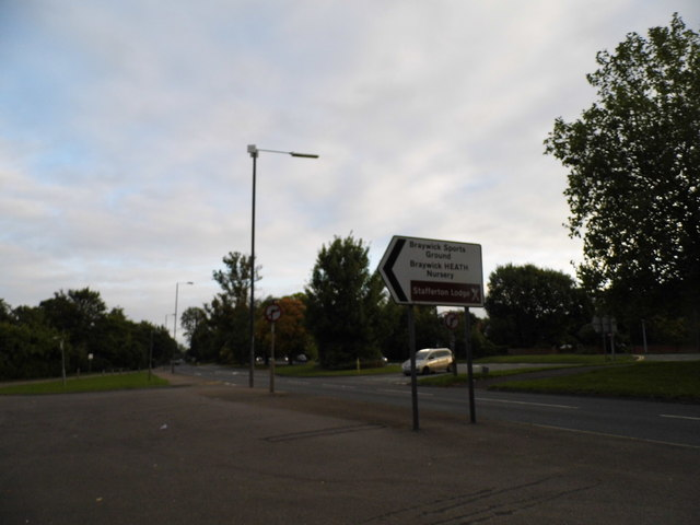 Braywick Road at the entrance to the sports ground