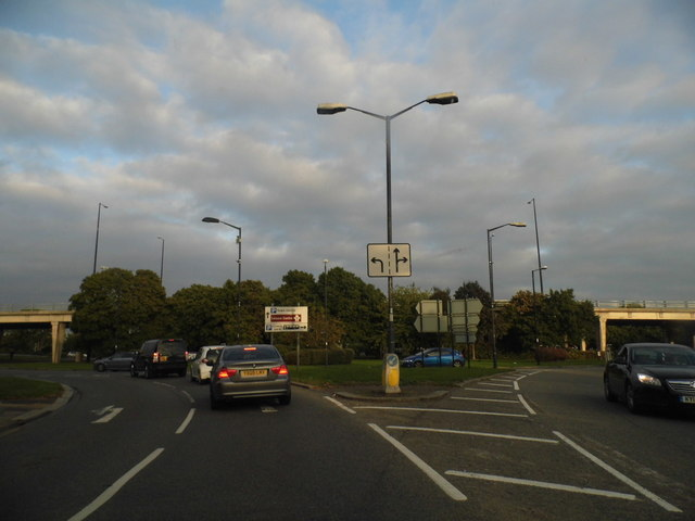 Roundabout on the A308, Windsor