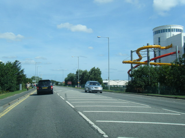 A52 northbound passing Butlins