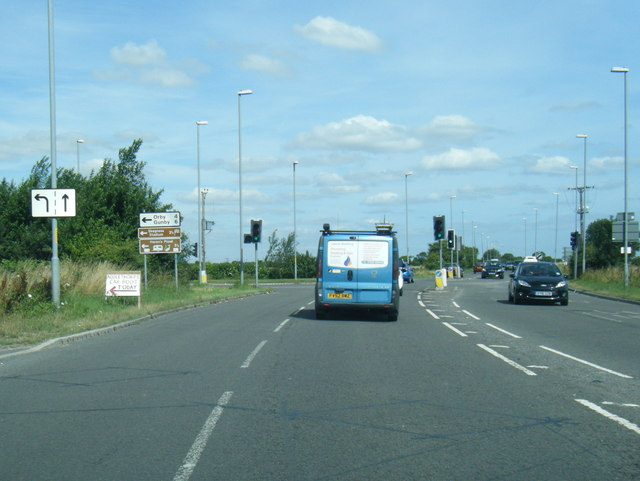 A52 northbound at The Grange