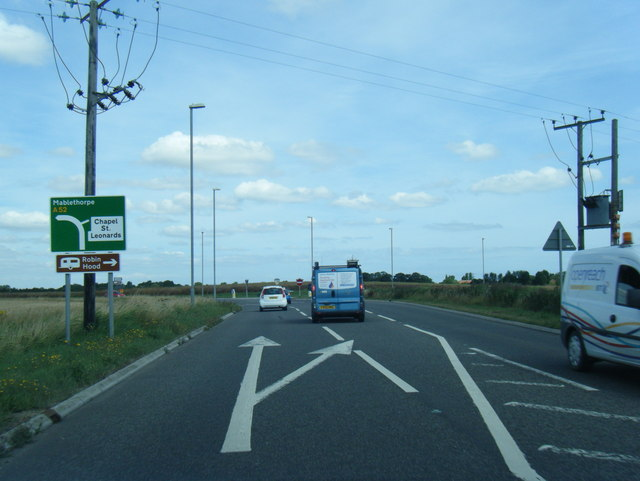 A52 at Skegness Road junction