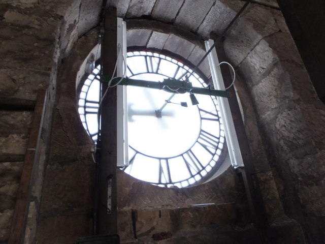 Inside the clock tower, Pollokshaws Burgh Hall