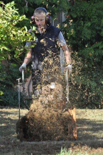 Killerton Park : Mowing the Lawn