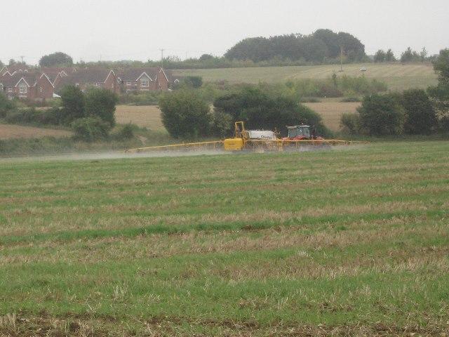 Crop spraying - Great Wildcroft Field