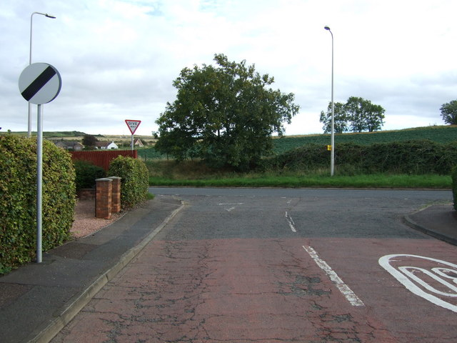 Road junction, East Linton