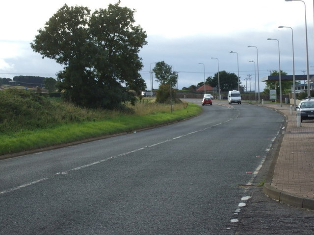 A199 heading west towards Haddington