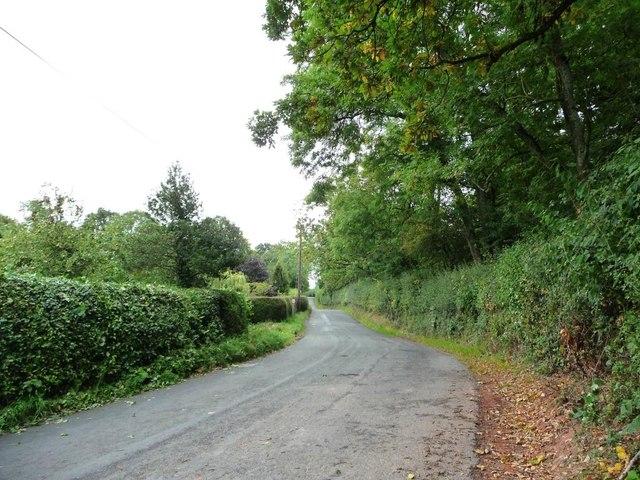 Glascoed Lane, looking east