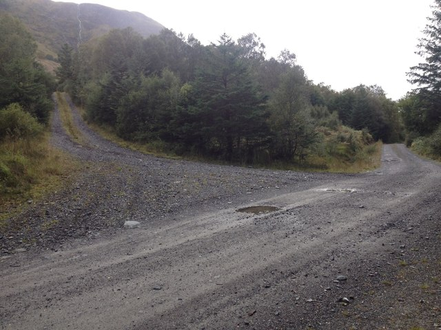 Forestry roads in Leanachan Forest