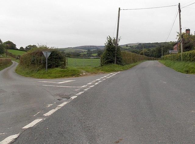 Dolau road junction