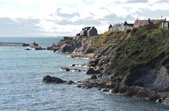 Rocky coast at Pittenweem