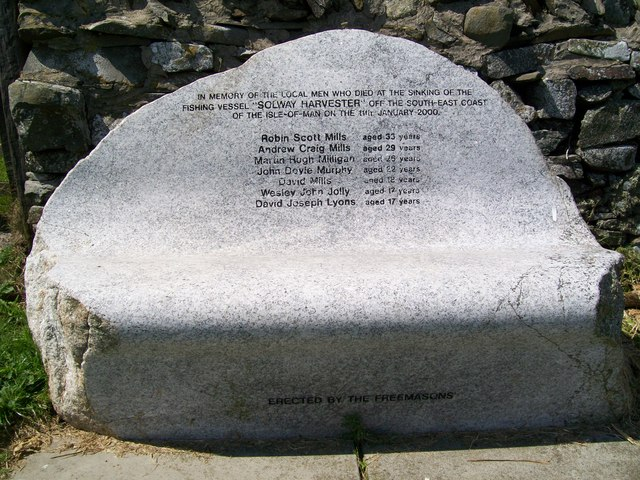 Solway Harvester memorial bench Isle of Whithorn