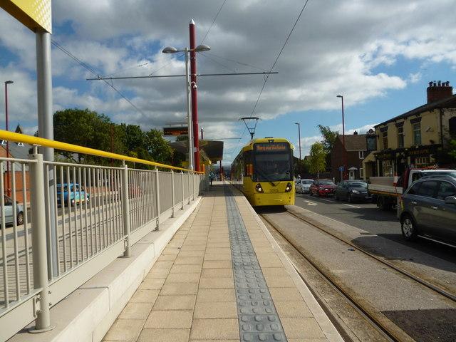 Droylsden:  Metrolink stop