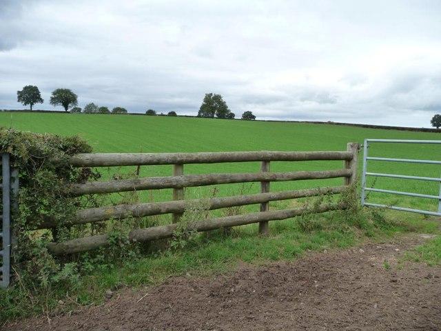 Farmland west of Trostra Common