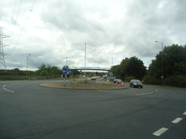 Roundabout on the A40, Denham