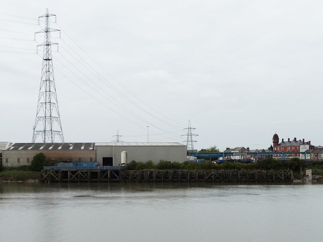 Disused jetty, west bank, River Usk