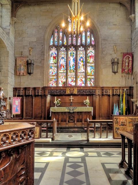 The Sanctuary, Middleton Parish Church, Altar and East Window