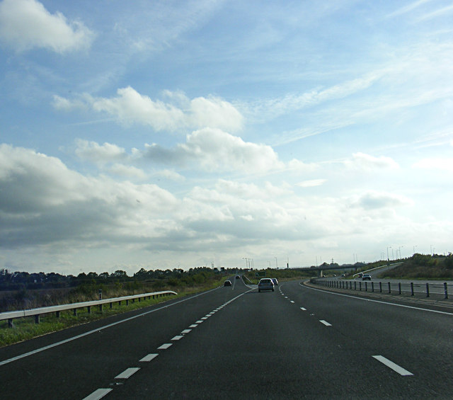 A421 Great Barford Bypass at Renhold junction