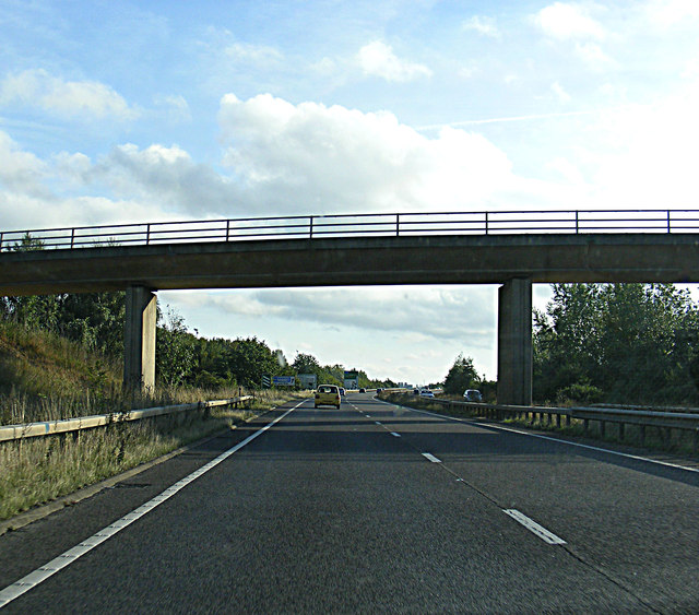 A421 Bedford Southern Bypass at the Meadow Lane Bridge