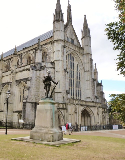 Guarding the Cathedral, Winchester