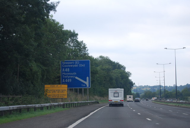 M4, 1 mile to junction 24