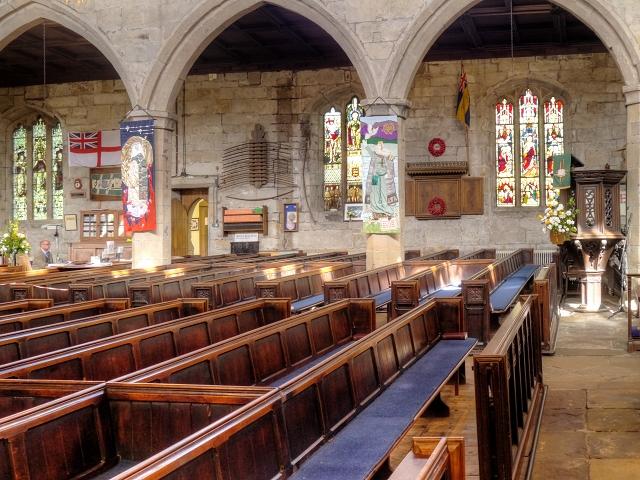 Inside Middleton Parish Church