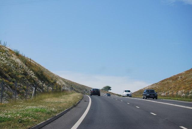 A354 climbing Ridgeway Hill