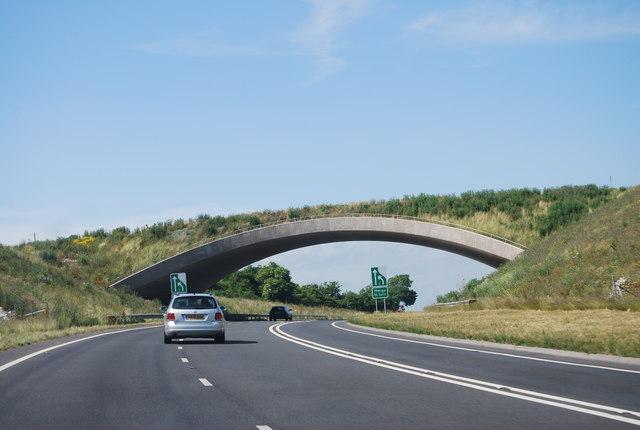 Footbridge over the A354
