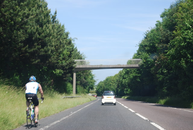 Footbridge, Dorchester bypass