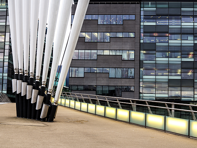 Detail, Media City Footbridge