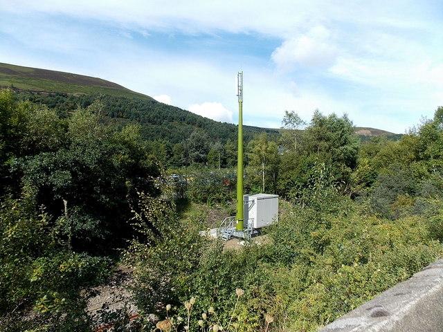 Communications mast near Ebbw Vale Parkway railway station