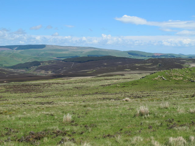 Moorland north of Highspoon Hill