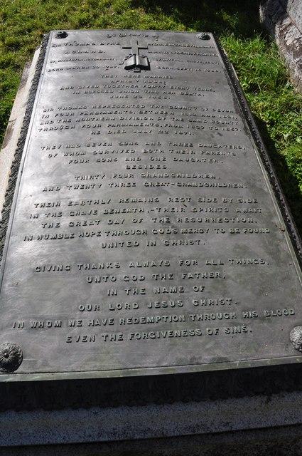 Columbjohn : Sir Thomas Dyke Acland Grave