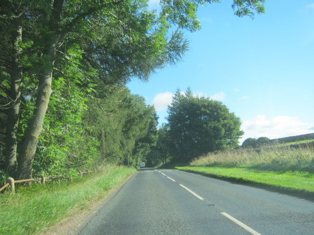 The B6301 north east to Cornsay Colliery