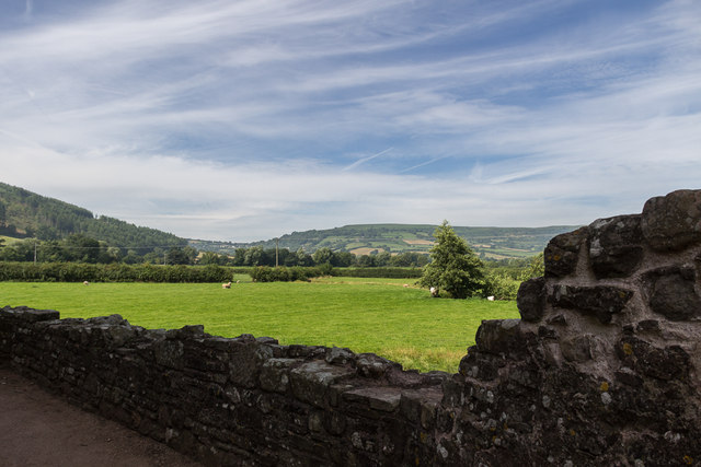 View from Tretower Castle