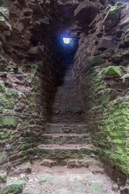 Stairway, Tower, Tretower Castle