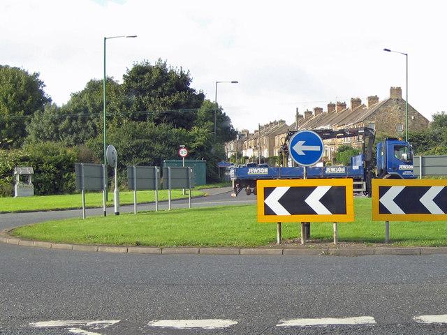 Leadgate, roundabout