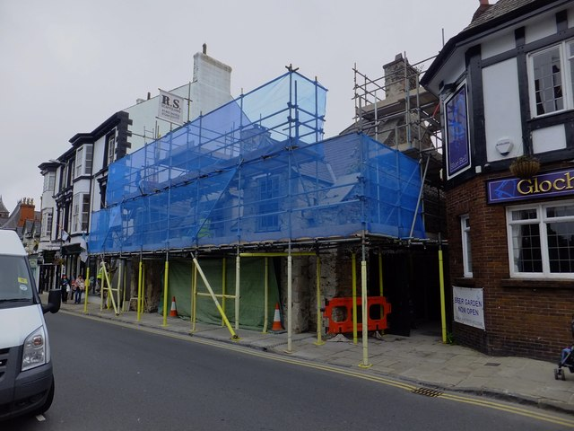Renovation of an old building on Castle Street, Conwy